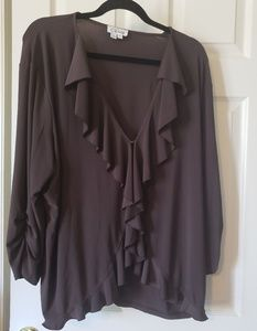 Beautiful brown jacket top size 3x
